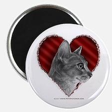 Abyssinian Cat Heart Magnet