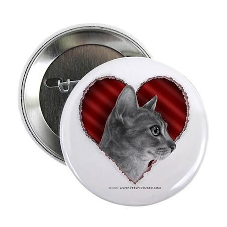 "Abyssinian Cat Heart 2.25"" Button"