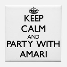 Keep Calm and Party with Amari Tile Coaster