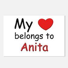 My heart belongs to anita Postcards (Package of 8)