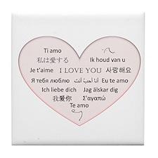 I Love You - Languages Tile Coaster