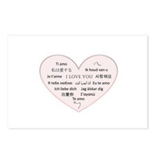 I Love You - Languages Postcards (Package of 8)
