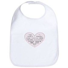 I Love You - Languages Bib