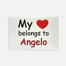 My heart belongs to angelo Rectangle Magnet