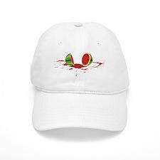 watermelon_splatV2 Baseball Cap