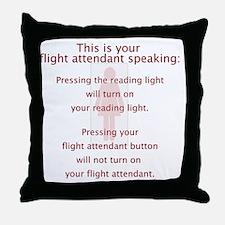 FAbutton Throw Pillow