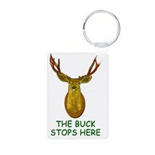 2-THE BUCK STOPS HERE magn Aluminum Photo Keychain