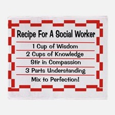 Recipe for a Social Worker Throw Blanket