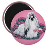 Shih Tzu and Flowers Magnet