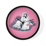 Shih Tzu and Flowers Wall Clock