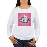 Shih Tzu and Flowers Women's Long Sleeve T-Shirt