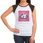 Shih Tzu and Flowers Women's Cap Sleeve T-Shirt