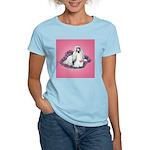 Shih Tzu and Flowers Women's Pink T-Shirt