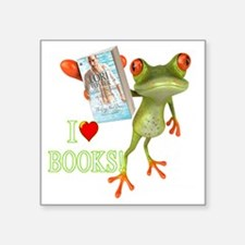 "shirt - frog white GUY NEXT Square Sticker 3"" x 3"""