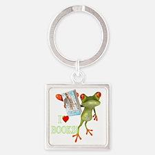 shirt - frog white GUY NEXT DOOR Square Keychain