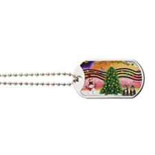 Xmas Music 2 - Two Brown Tabby cats Dog Tags