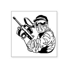 "Paintball1 Square Sticker 3"" x 3"""