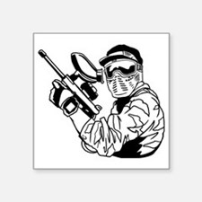 """Paintball1 Square Sticker 3"""" x 3"""""""