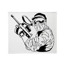 Paintball1 Throw Blanket