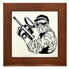 Paintball1 Framed Tile