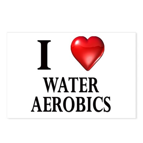 Love Water Aerobics Postcards (Package of 8)