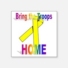 "troops-home Square Sticker 3"" x 3"""
