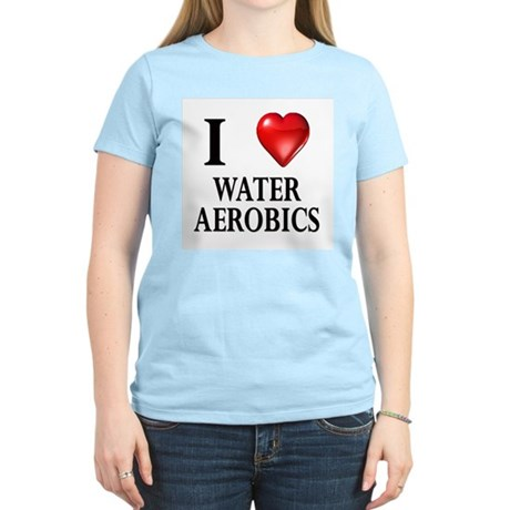 Love Water Aerobics Women's Pink T-Shirt