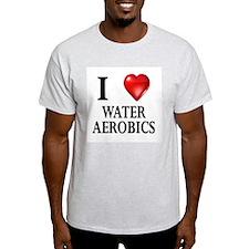 Love Water Aerobics Ash Grey T-Shirt