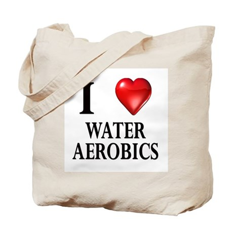 Love Water Aerobics Tote Bag