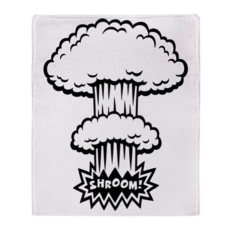 mush-cloud1-BW-T Throw Blanket