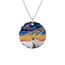 Xmas Sunrise - Two Siamese ( Necklace