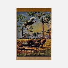 FIN-wild-turkey-art-GRTING Rectangle Magnet