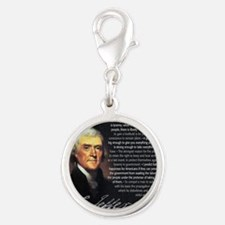 TJ Quotations Silver Round Charm