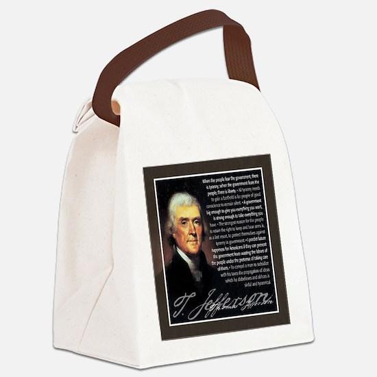 TJ Quotations Canvas Lunch Bag
