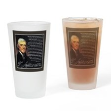 TJ Quotations Drinking Glass