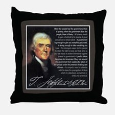 TJ Quotations Throw Pillow