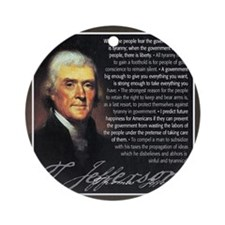 TJ Quotations Round Ornament