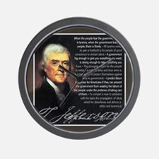 TJ Quotations Wall Clock