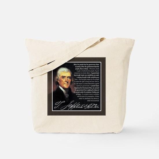 TJ Quotations Tote Bag