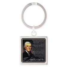 TJ Quotations Square Keychain