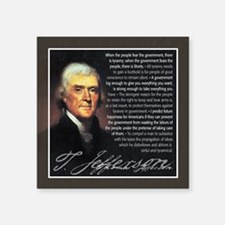 "TJ Quotations Square Sticker 3"" x 3"""