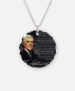 TJ Quotations Necklace Circle Charm