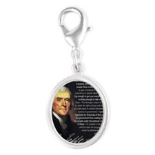 TJ Quotations Silver Oval Charm