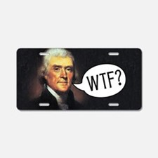 tj-wtf-rect-2 Aluminum License Plate