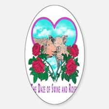 SWINE AND ROSES T  2 magnet Decal