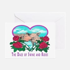 SWINE AND ROSES T  2 calendar Greeting Card