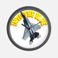 CP-T dark F15 INTO THE BLUE Wall Clock