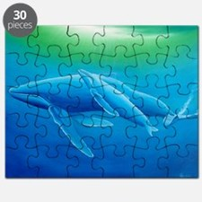 2-Mother and daughter whale poster Puzzle