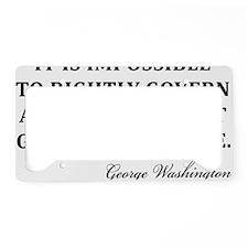 Washington_God-and-Bible-(whi License Plate Holder