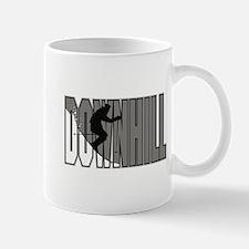 Downhill Grey Logo Mug